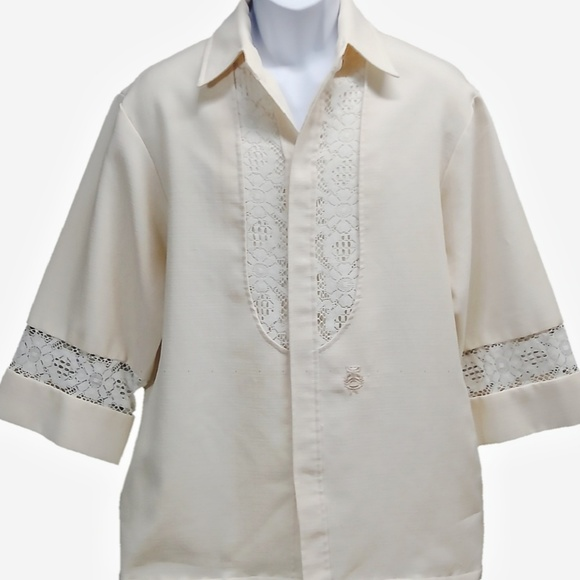 60afc889 Vintage Shirts | Vtg 70s Beau Tiki Iolani Hawaii Mens Wedding Lg ...